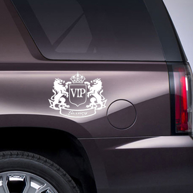Hot sale car sticker classic car accessories modification car styling vinyl decal two lions vip