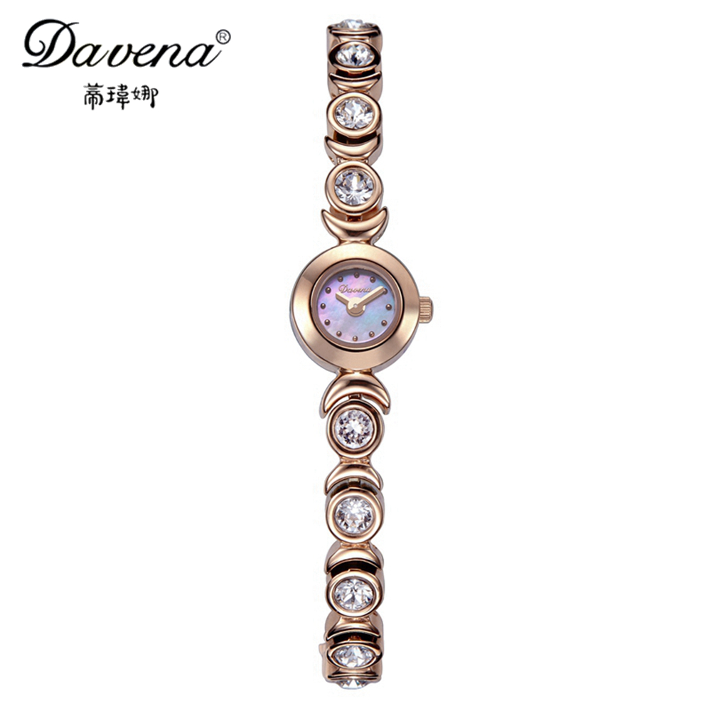 2017 Hot Women's Steel Bracelet Wristwatch Women Dress Rhinestone Watches Fashion Casual Miyota Quartz Watch Davena 60159 Clock hot women s steel ceramic wristwatch women dress rhinestone watches fashion casual quartz watch luxury brand melissa 8009 clock