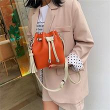Brand Bucket Crossbody Bags For Women 2019 Shoulder Bag Tassel Ladies Handbags Women Messenger Bags bolsa feminina Female Purse цена в Москве и Питере