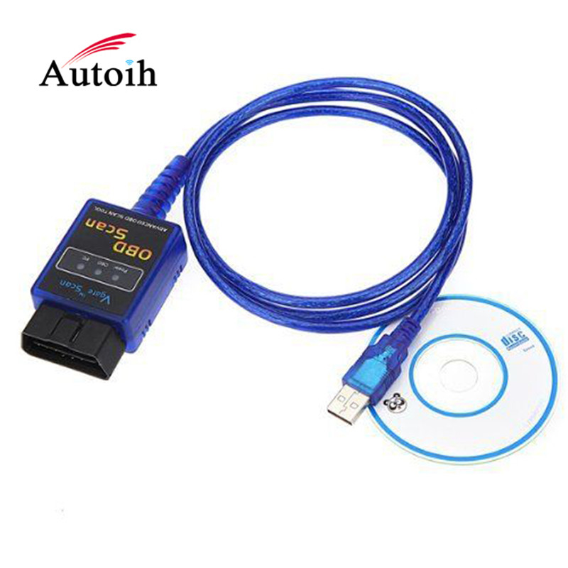 Newest V1.5 ELM327 USB Obd2 Auto Diagnostic Interface Scanner Elm <font><b>327</b></font> V 1.5 USB OBDII Car Diagnostic Scanner Tool OBD-<font><b>2</b></font> adapter image