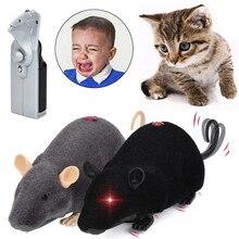 Мультяшный Забавный Электрический беспроводной пульт дистанционного управления плюшевая мышь игрушечная крыса подарок на день дурака для детей Высокое качество Прямая поставка