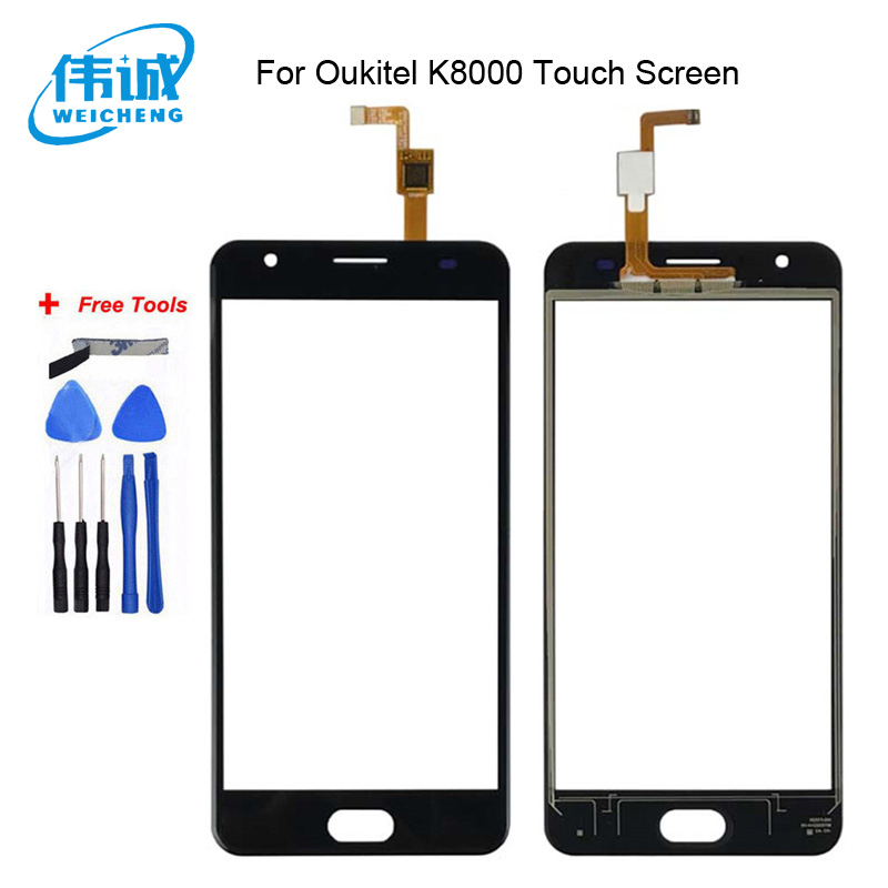 WEICHENG Top Quality for <font><b>Oukitel</b></font> <font><b>K8000</b></font> Touch <font><b>Screen</b></font> Digitizer 100% tested Digitizer Glass Panel Replacement+Free Tools image