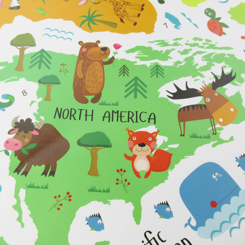 World Map Cartoon