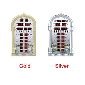 Image 2 - 音楽再生カレンダー壁テーブル Led 自動イスラム教徒祈りギフトアザン時計デジタルモスク家の装飾時間思い出さイスラム