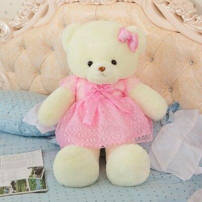 lovely pretty skirt teddy bear about 80 cm plush toy soft throw pillow  ,birthday gift x242 huge lovely new plush teddy bear toy stuffed light brown teddy bear with bow birthday gift about 160cm