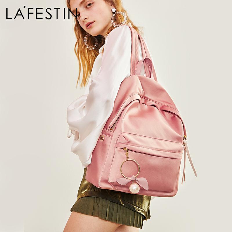 LAFESTIN Women Backpack Oxford School Style College Simple Design Casual Daypacks mochila Female Famous Brands