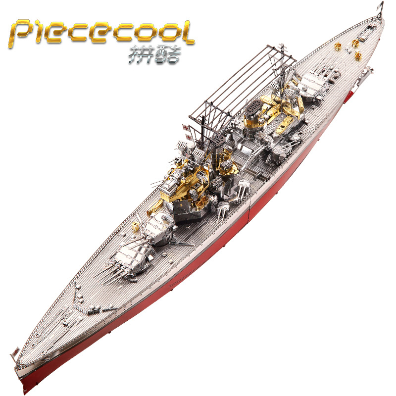 2018 Piececool 3D Metal Puzzle Model Figure Toys HMS PRINCE OF WALES Warship DIY Laser Cutting Puzzles Jigsaw Model For Children