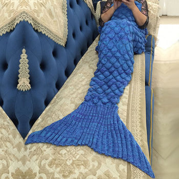 Creative Colorful Mermaid Tail Soft Blanket 2