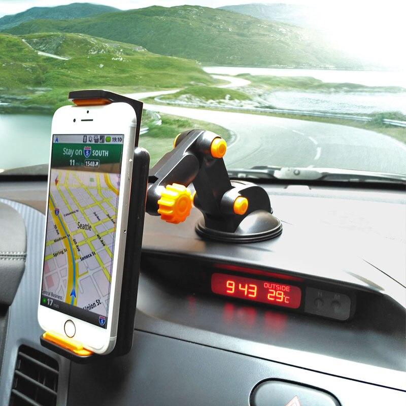 Car Sucker <font><b>Phone</b></font> <font><b>Stand</b></font> Holder Navigate Case For iPhone 5S 6S Plus For Samsung Galaxy S5 S6 360 Rotating <font><b>Socket</b></font> Windshield <font><b>Mount</b></font>