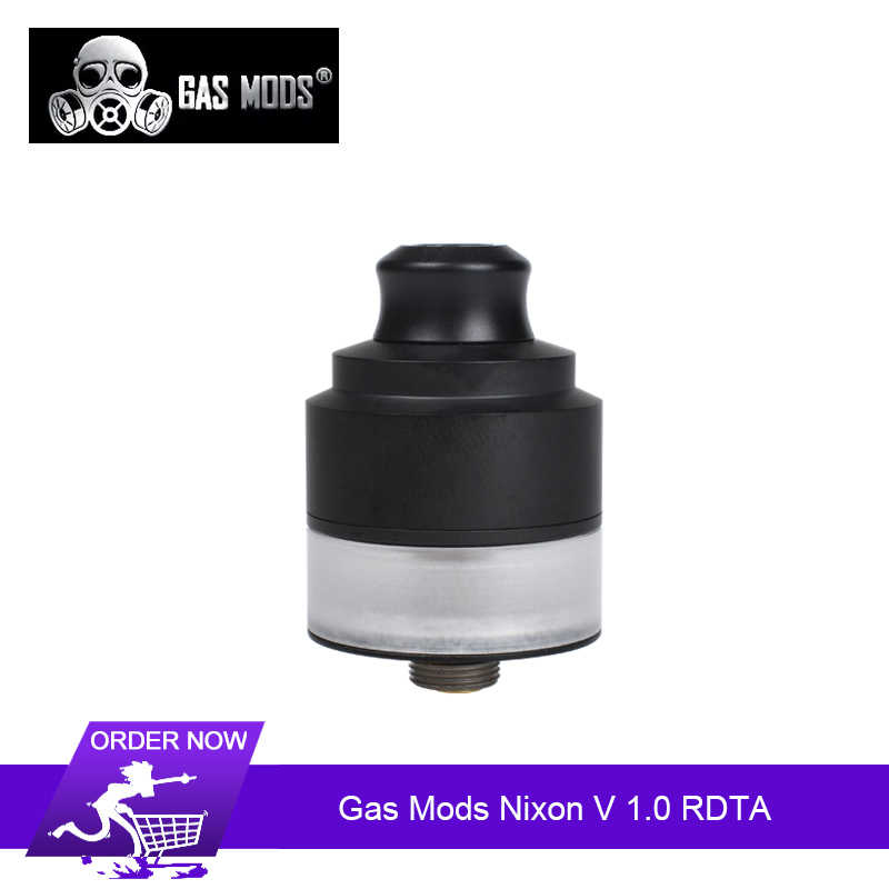 Original Gas Mods Nixon V 1.0 RDTA tank 2ml Atomizer 22mm Single Coil BF Squonk Pin  E-cig Vape Tank Vs Galaxies MTL RDTA