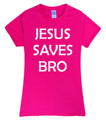 2017 Summer Jesus Saves Bro Letters Kids t shirt Women brand tops harajuku tee pink shirt funny angel grunge femme black white