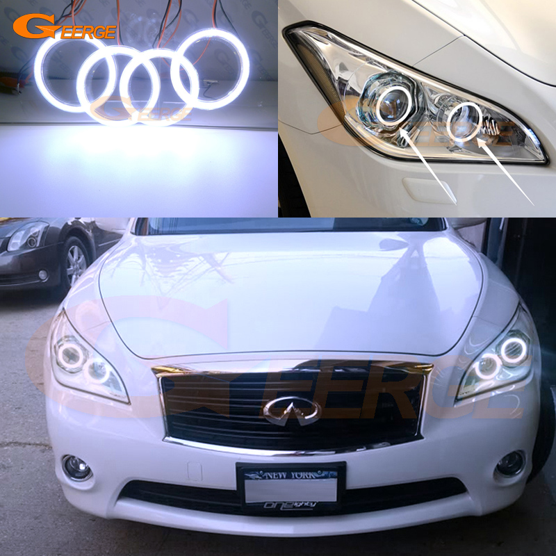 For NISSAN FUGA Y51 2011 2012 2013 2014 Excellent Ultra bright illumination COB led angel eyes kit halo rings bigbang 2012 bigbang live concert alive tour in seoul release date 2013 01 10 kpop