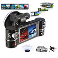 New Dual Lens Car Camera Vehicle DVR Dash Cam Two Lens Video Recorder F600 Black