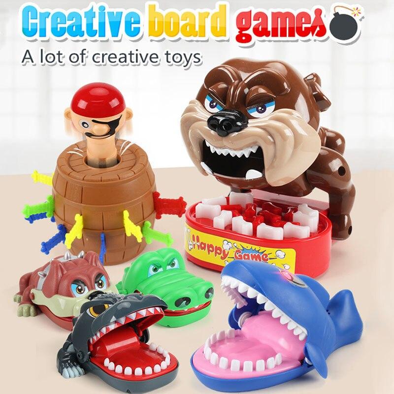 Brinquedos divertidos grande tubarão crocodilo boca dentista mordida dedo jogo engraçado novidade mordaça brinquedos para crianças jogar diversão família dentes piadas