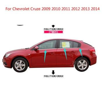Untuk Chevrolet Cruze 2009-2014 Berkualitas Tinggi Stainless Steel Strip Mobil Jendela Potong Dekorasi Aksesoris Mobil Styling 6 Pcs