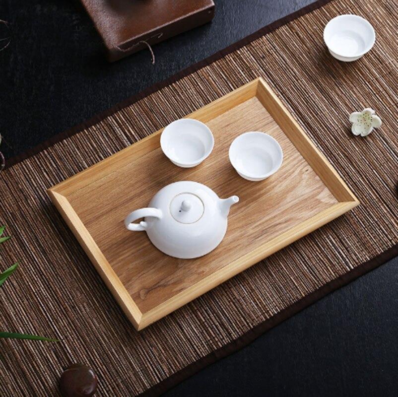 Plateau à thé en bois naturel assiettes cadeau de passe-temps décoration de la maison plaques de café tapis de thé