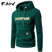 T Bird 2017 Hoodie Men Letter 3D Print Hip Hop Fashion Mens Hoodies Male Brand Cotton