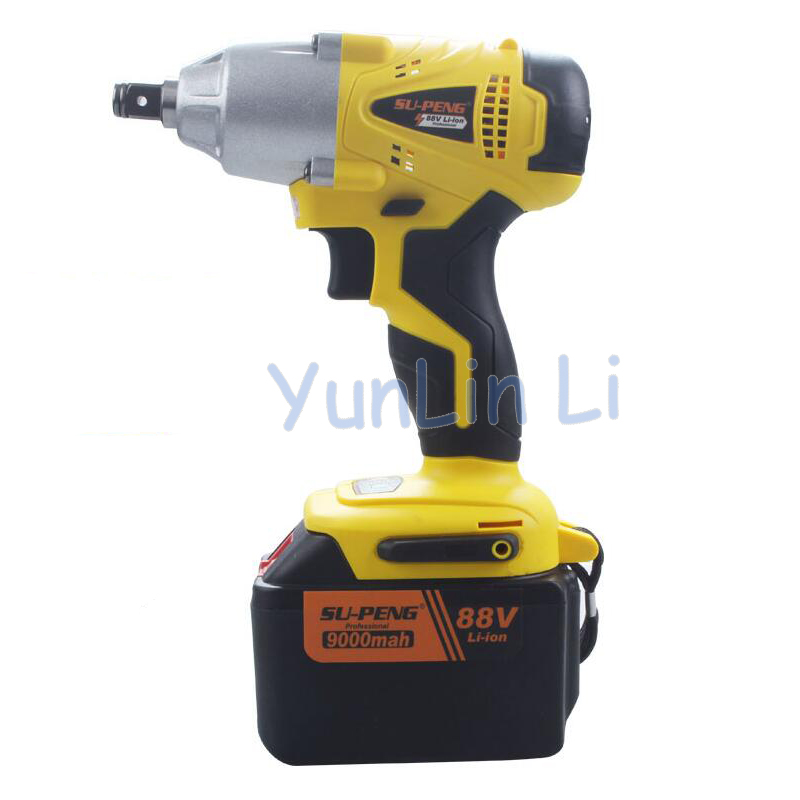 Electric Wrench 88V 9000mA Rechargeable Impact Wrench Cordless Impact Wrench Electric Wrench Tool rotor rechargeable impact wrench accessories for makita dtw450rfe stator bearing chassis handle switch gear shell carbon brush
