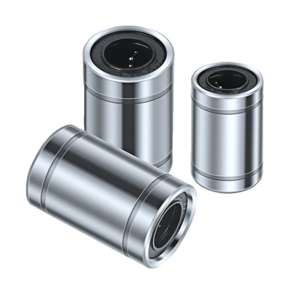 2PCS/LOT Linear Motion Bearing LM3/4/5/6/8/10/12/16/20/25/30UU Standard Rail Slider