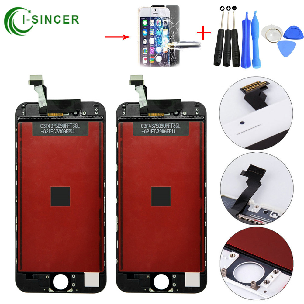 1/Piece For iPhone 6 LCD Display + Touch Screen Digitizer Assembly White,Black color 4.7 LCD screen