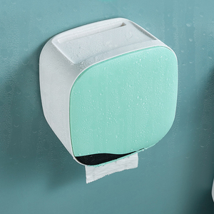 Image 4 - Wall Mount Toiletrolhouder Plank Tissue Doos Waterdichte Wc papier Lade Papierrol Buis Badkamer Opbergdoos Organizer