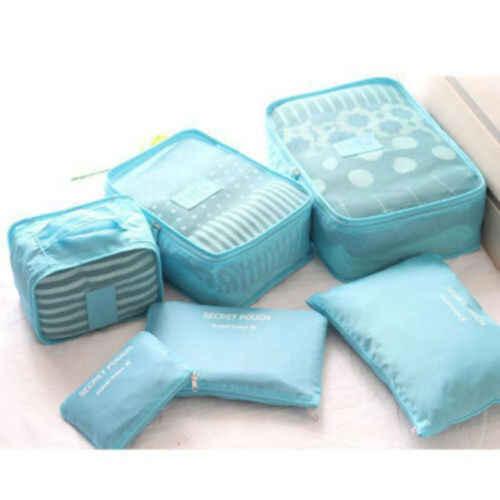 6 個旅行バッグ防水衣類収納荷物オーガナイザーポーチパッキングキューブ