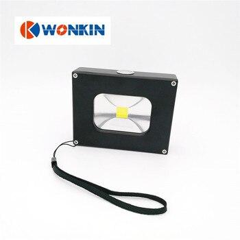 10 W Ultradunne Pocket led-schijnwerper led USB Opladen dimmer met 4000 mAh capaciteit power bank outdoor camping werklamp