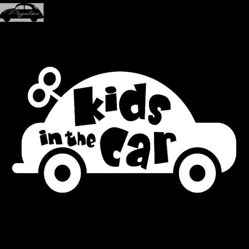 Pegatina Baby In Car Waving Baby on Board Safety Sign Cute Car Decal Vinyl Sticker