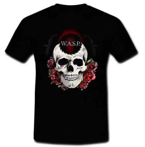 W.A.S.P. HEAVY METAL BAND TWISTED SISTER CINDERELLA BLACK Letter top tee