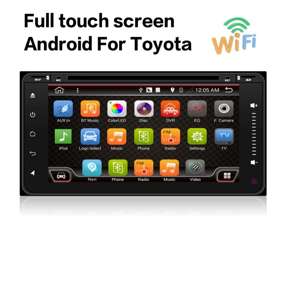 Qud Core Android 6 0 Car Dvd Headunit Radio For Toyota Hilux 2015 16 Gps Navi
