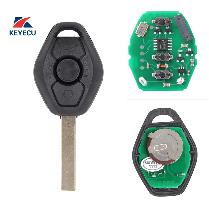 433MHZ New Uncut Keyless Entry Remote Control Car Key Replacement Fit for BMW LX8 FZV Z4 X 3 X5 E46 Series 3 5 6 7 Z3 Chip ID44 EWS 315MHZ
