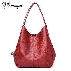 Vfemage novos sacos de moda feminina bolsas designer senhoras sacos de couro macio bolsa de ombro feminina 2019 pequeno retro bolsa feminina