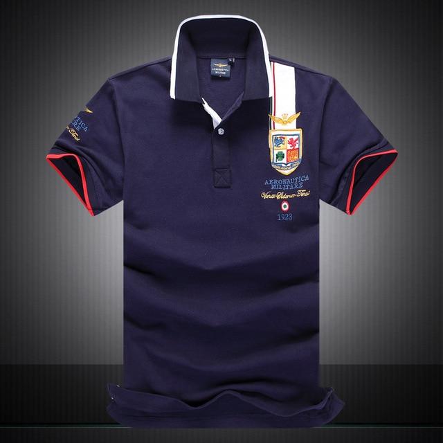 2016 Nuevo llega la AERONAUTICA Militare Air Force One Hombres Bordado hombres Desgaste del verano estilo casual shirt camiseta