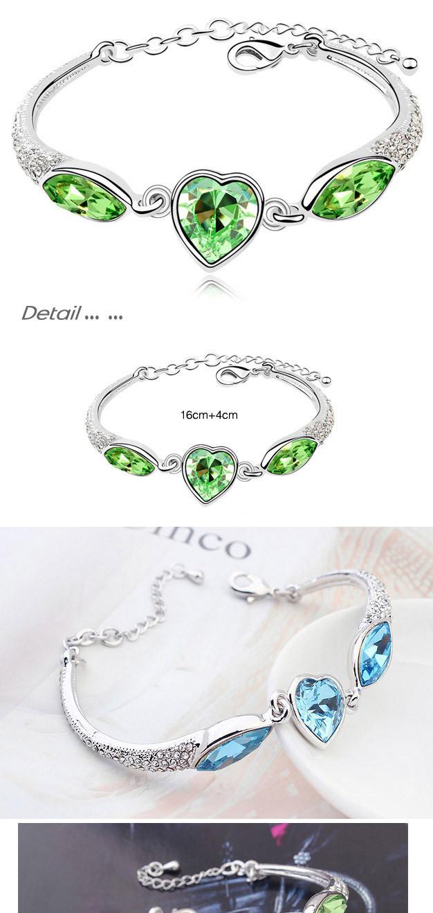 Новые браслеты и в форме сердца для женщин женские кристаллы