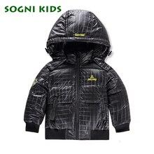 80% утка вниз мальчики съемный капюшон воротник стеганые Супер свет вниз перо куртка верхняя одежда детей зимой теплый снег пальто