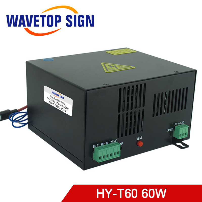 60W CO2 Laser Power Supply HY-T60 match with co2 laser tube 60W for CO2 Laser Engraving Cutting Machine co2 laser machine laser path size 1200 600mm 1200 800mm