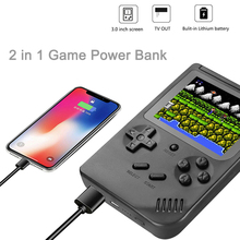 2 IN 1 Portable Game Power Bank Retro Handheld Game Console Built In 4000mAh Lithium Battery Rechargeable For Smartphones MP4