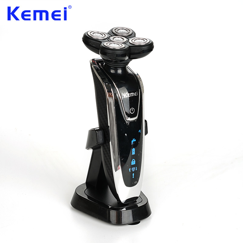 KEMEI New 5D Floating Head Washable Rechargeable Electric Shaver Electric Shaving Razors maquina de afeitar electrica BT-057 the new high quality razors man shaving machine 4 d waterproof rechargeable electric shaver crime three head hair removal device