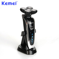Kemei 5d Electrica Washable Rechargeable Shaver Barbeador Razors Men Face Care 5d Floating Barbeador Maquina De