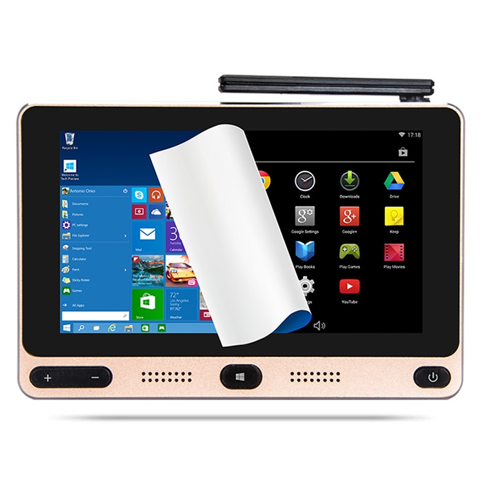 GOLE1 5-inch 720x1280 IPS Windows10&Android5.1 Smart TV Box Intel Cherrytrail Z8300 Quad Core 4G 64G mini PC 5G WIFI Set Top Box ainol mini pc windows 8 1 quad core intel z3735f tv box 7000mah power bank