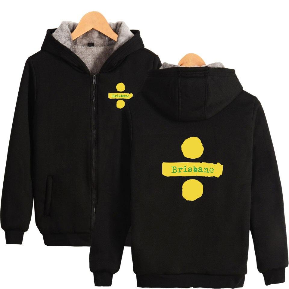 Lucky yfridayf 2018 Ed Sheeran hiver chaud vestes à capuche femmes/hommes Zipper Hoodies sweat hommes nombre décontracté moelleux épaissir vêtements