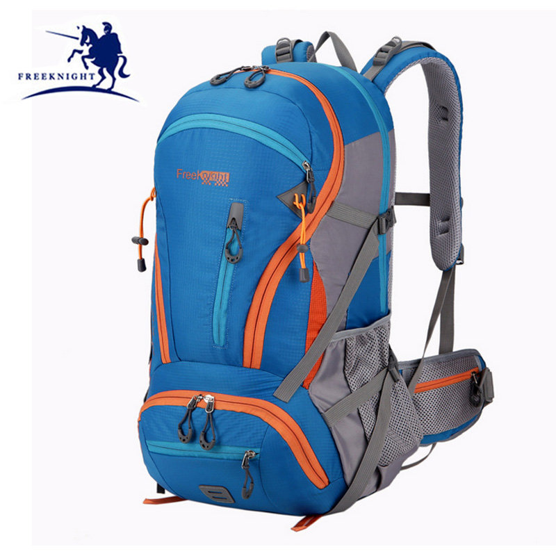 Outdoor Climbing Backpack Waterproof  45L Large Capacity Camping Mountaineering Travel Bag Sports shoulder Backpack XA258WD large capacity outdoor sports backpack travel on foot casual double shoulder mountaineering bag a5104
