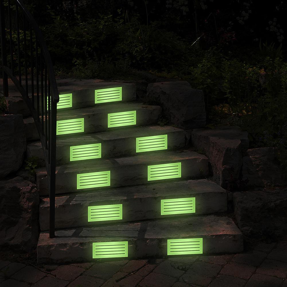 4Pcs Home Luminous Self-adhesive Non-slip Floor Staircase Carpets Glow In Dark Stair Treads Protector PVC Mats