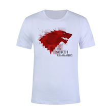 Stefan janoski 2019 New The North Remembers Blood Wolf T Shirt Mens Novelty Game of Thrones Tshirt High Quality Hipster Tee Top