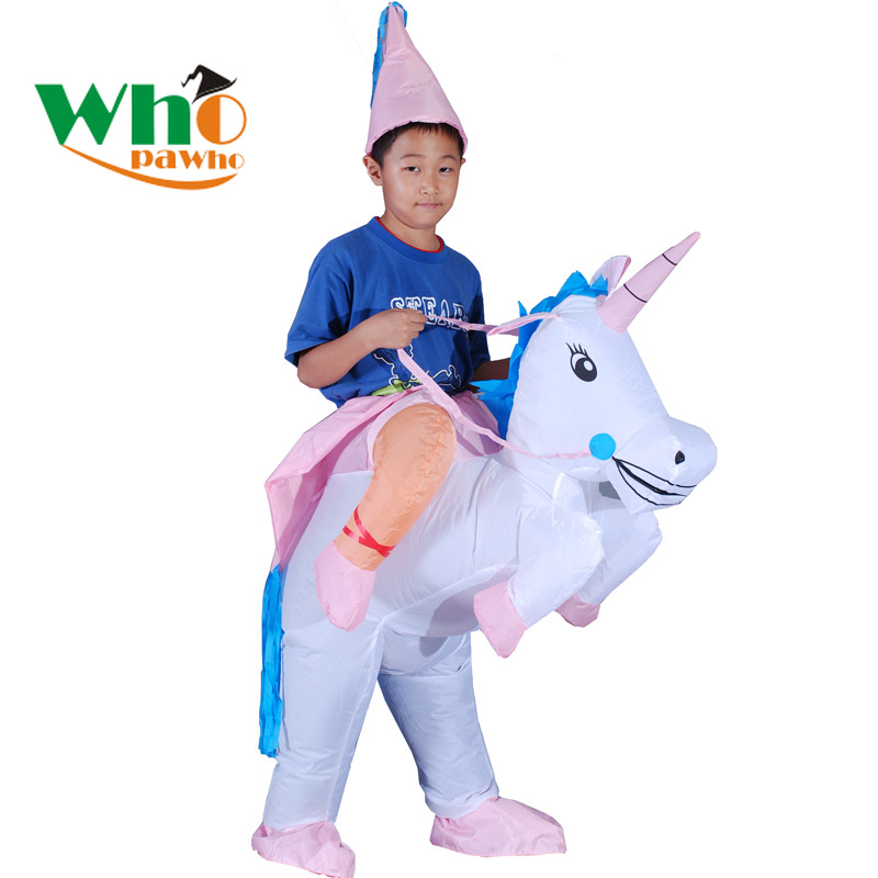 Boys Girls Inflatable Costume Unicorn Animal Cosplay Mascot Fancy Waterproof Unicorn Party Halloween Costume for Kids  Anime