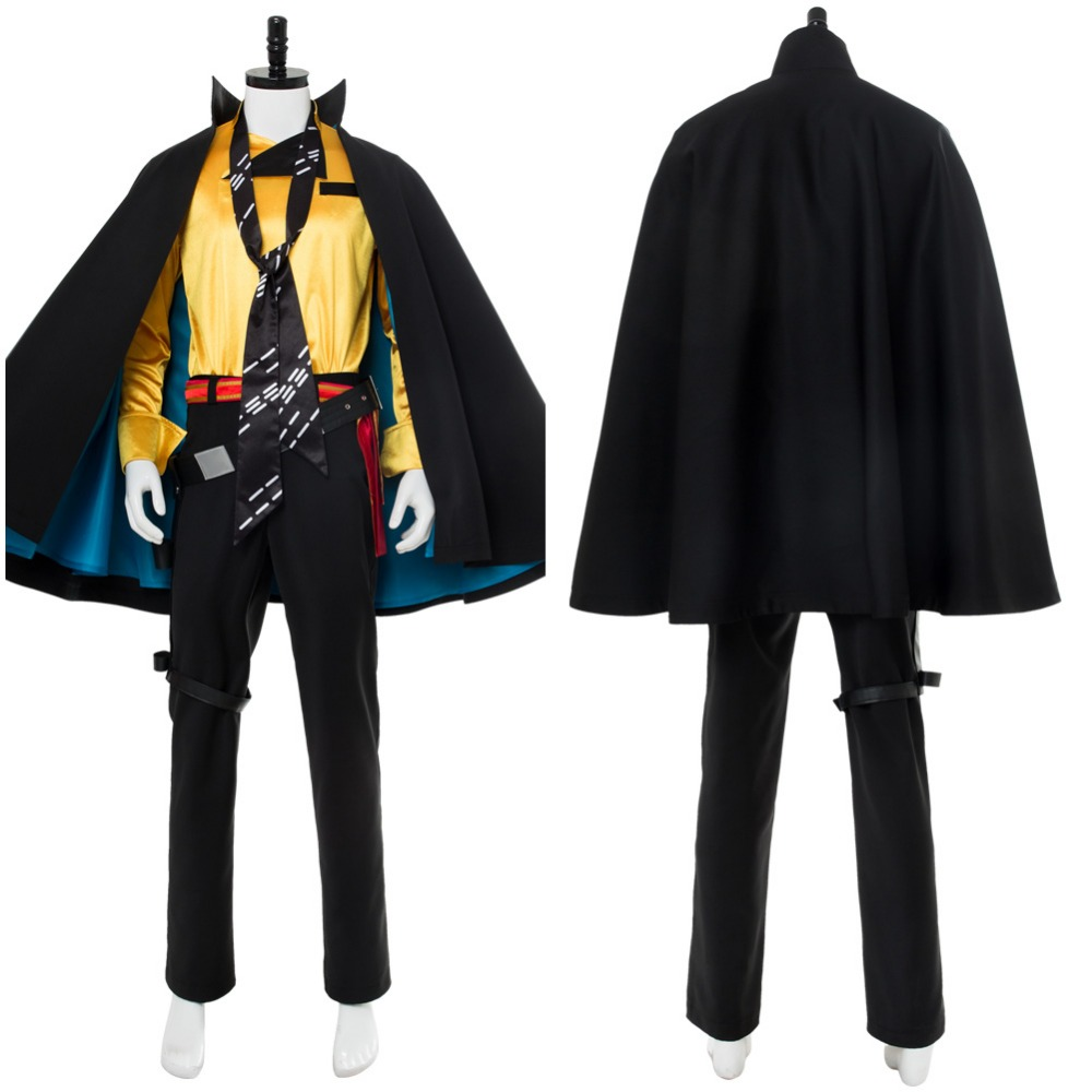 Solo:A Star Wars Story Lando Calrissian Cosplay Costume Outfit Suit With Cloak Cape Men and Wowen Halloween Carnival Costume