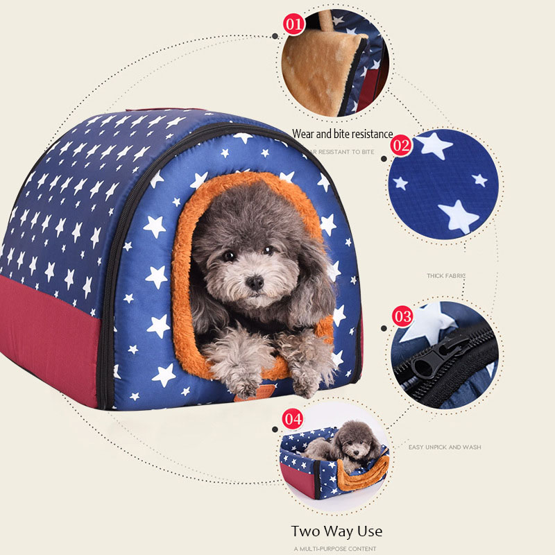 Foldable Warm Dog House // Puppy or Kitten 3