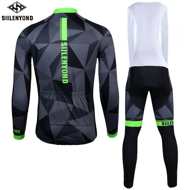 Siilenyond 2019 Winter Thermal Cycling Jersey Sets Shockproof Mountain Bike Cycling Clothing Suit Racing Bicycle Cycling Clothes 2