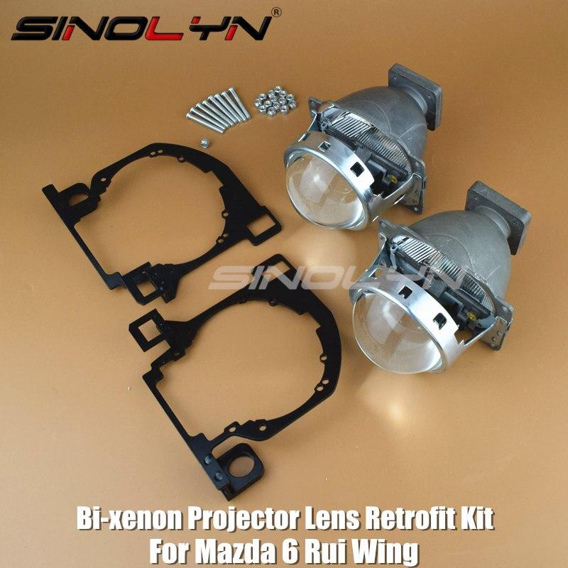 Pour Mazda 6 Rui aile phare modification HID bi-xénon projecteur lentille de projecteur remplacer les lentilles halogènes Tuning bricolage LHD RHD haute basse