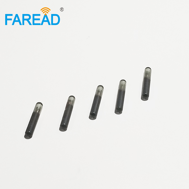 X60pcs Factory Price FDX-A Bioglass 125KHz Frequency Glass Tag 2.12*12mm With T5577 RFID Transponder Chip For ID Tracking